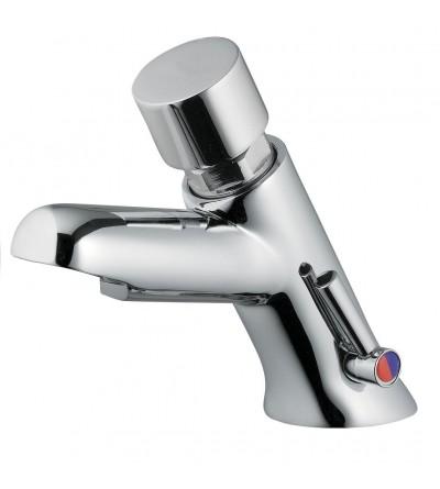 Miscelatore temporizzato per lavabo con comando a pulsante Idral 08512F