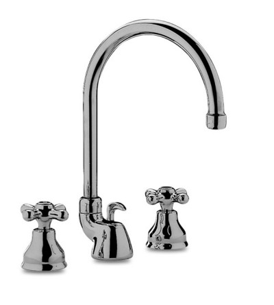 Three-holes basin mixer with swivel spout Paffoni Iris IRV/VLV 057