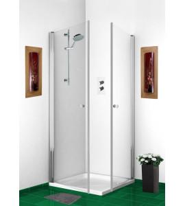 cabine douche angle d'ouverture deux portes battantes THEOS LIGHT