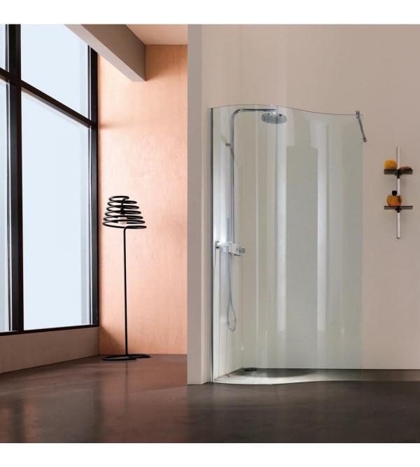 paroi de douche angle arrondi opensway samo b4965 rubinetteria shop. Black Bedroom Furniture Sets. Home Design Ideas
