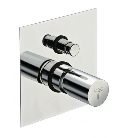 Built-in single-lever shower mixer with diverter - pollini acqua design point PT211cr