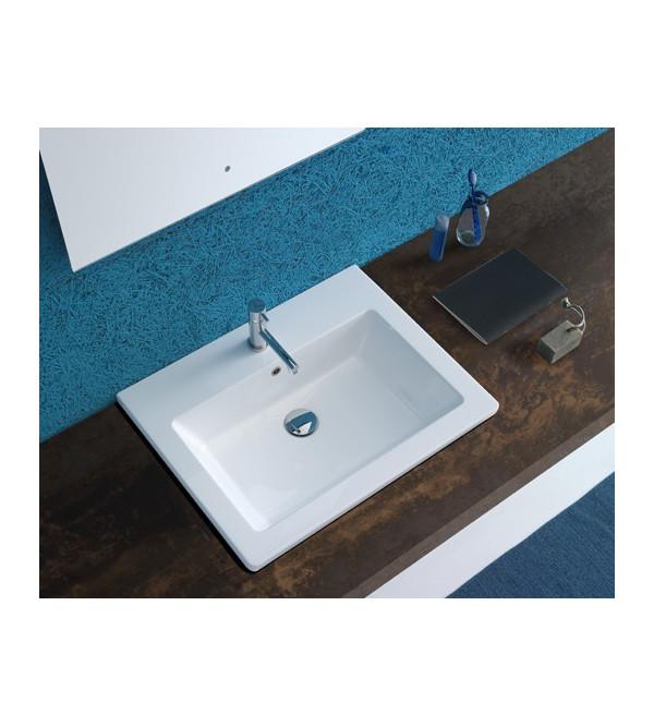 Lavabo da incasso forty 3 60 x 47 cm cod fo064 globo - Lavabi bagno da incasso ...