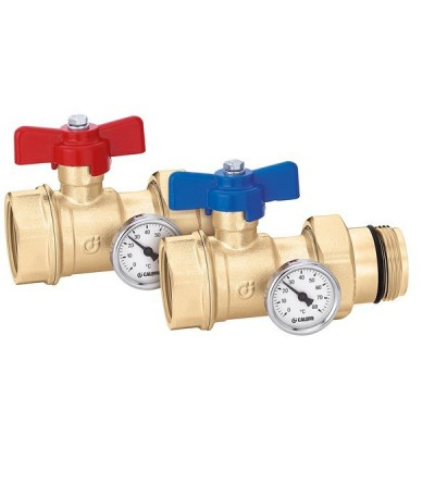 Pair of ball shut-off valves caleffi 391 S1