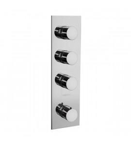 Hidroescobilla para inodoro con fijaciòn mural - blanco o cromo -Idral FOEL 02420 NO-KDI001