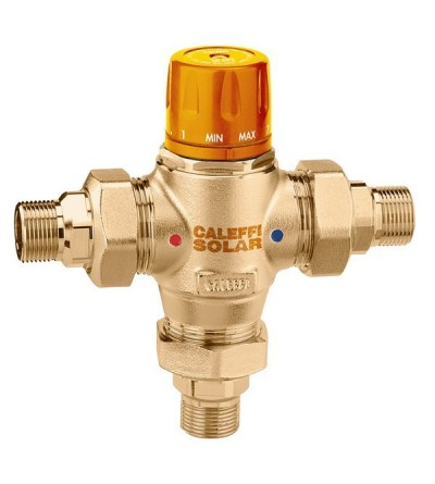 Thermostatic mixing valve with interchangeable caleffi 2523