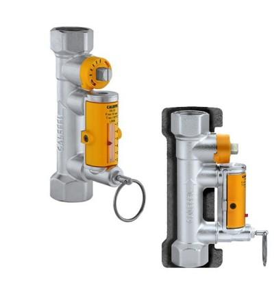 Balancing valve with flow meter caleffi 258