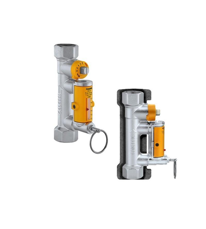 Balancing valve with flow...