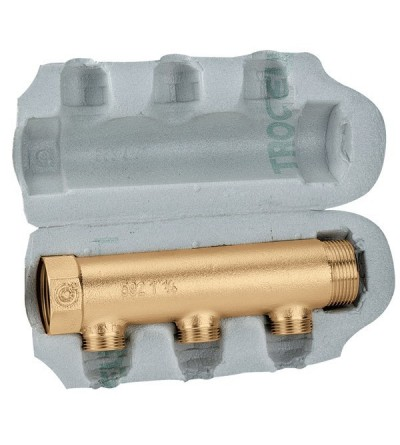 Modular single distribution manifolds for air conditioning systems caleffi 650
