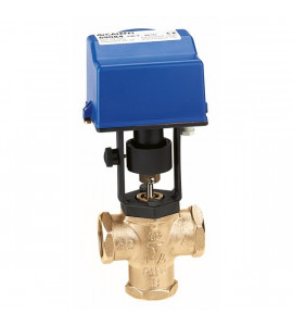 Motorised three-way piston valve with manual opening caleffi 636