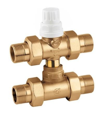 Three-way zone valve with by-pass teecaleffi 678