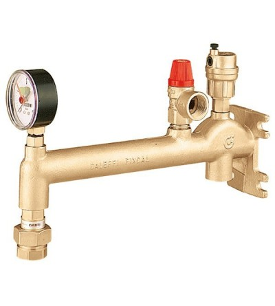 Assembled wall mounting manifold for heating systems caleffi 336630