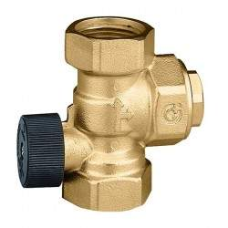 Check valve with controlled...