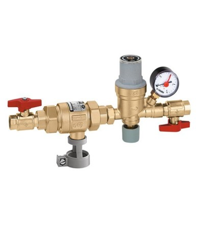Automatic charging unit with CAa type backflow preventer and shut-off valve caleffi 573001