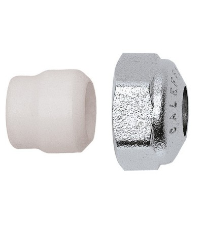 Compression fitting for copper pipe, with PTFE seal CALEFFI 438