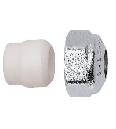 Raccordo meccanico, per tubo in rame a tenuta PTFE CALEFFI 438