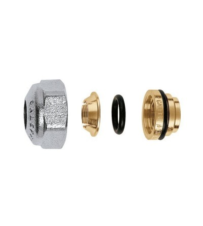 Compression fitting for copper and stainless steel pipes, with O-Ring seal caleffi 437