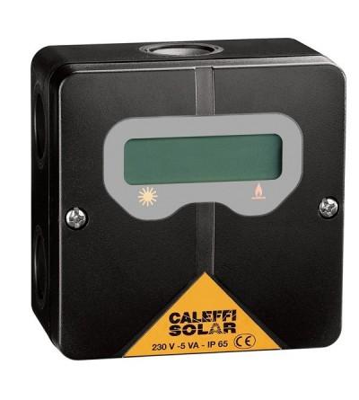 Thermostat avec écran pour visualiser la température dans le ballon solaire caleffi 265001