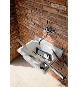 bañera externa hecha de material termoplástico montegrappa onda 52