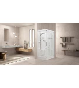 Cabines de douche porte coulissante + paroi latérale hydro NOVELLINI NEW HOLIDAY 2P120X80