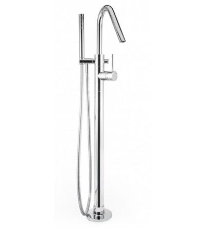 Monocomando vasca a pavimento con kit doccia porta&bini forma 23102