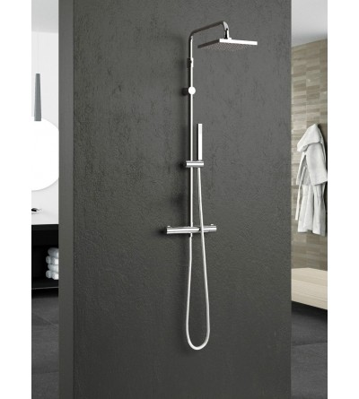 Exposed thermostatic shower mixer with shower column novellini easy 2