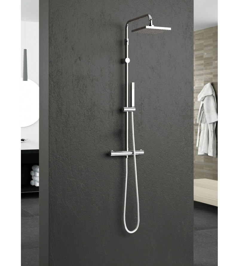 Colonna Doccia Easy Shower.Exposed Thermostatic Shower Mixer With Shower Column Novellini Easy 2