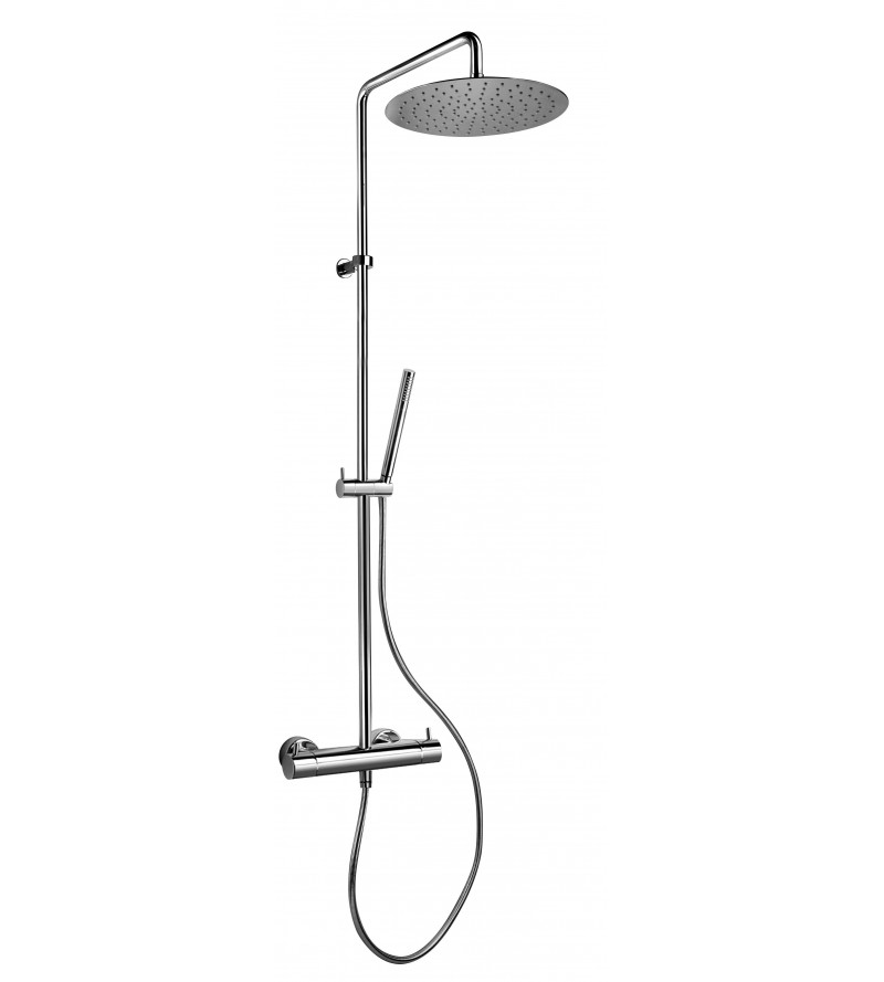 Exposed thermostatic bath mixer with shower column jacuzzi sunset 0SU00199JA02