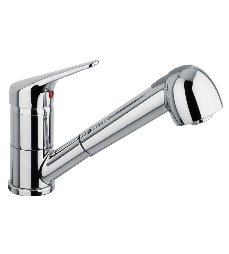 miscelatore per lavello cucina doccia estraibile Piralla Nuvola 0NU ...