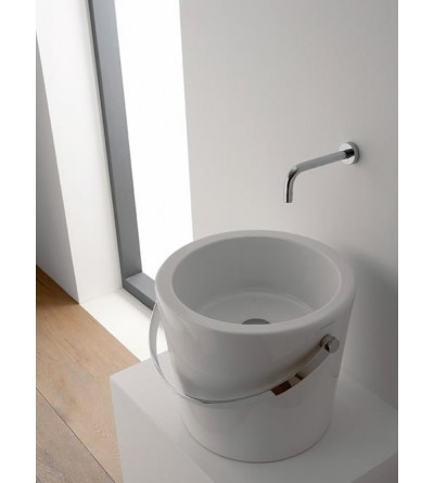 Lay-on washbasin scarabeo bucket 40  8803