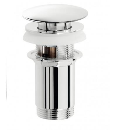 Piletta click clack tonda in ottone c/troppo pieno - Pollini Acqua Design 803140008
