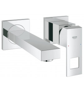 Grohe Eurocube wall-mounted two hole basin mixer projection: 171 mm 19895000