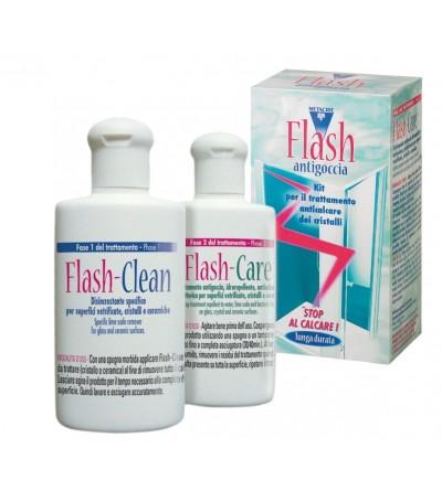 Flash Antigoccia - Kit trattamento idrorepellente per vetri e cristalli Metacril 10500101