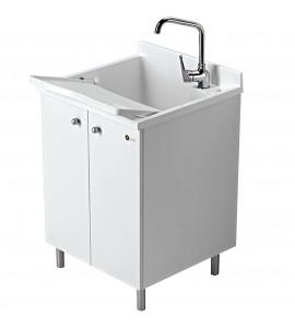 bloc lavabo pour intérieur look one montegrappa h.85 - 60 x 60 - blanc