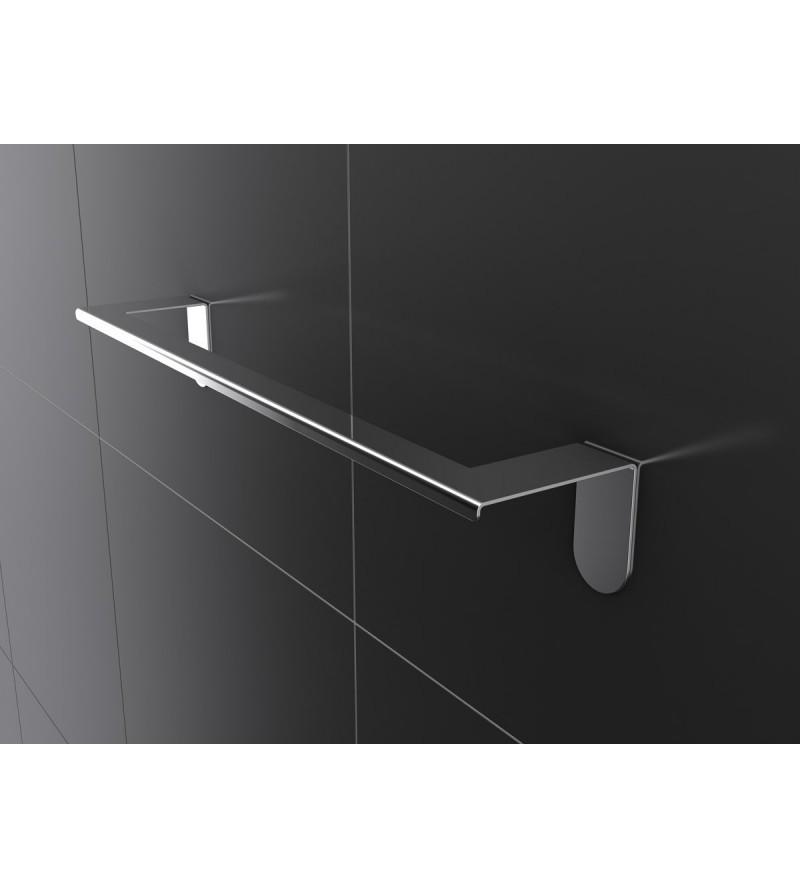 Polished steel towel rail...