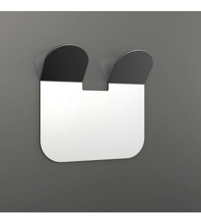 Doppelhaken aus glänzender Edelstahl Capannoli Easy YE109/2