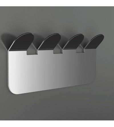 Kleiderhaken mit 4 Haken aus glänzender Edelstahl Capannoli Easy YE109/4
