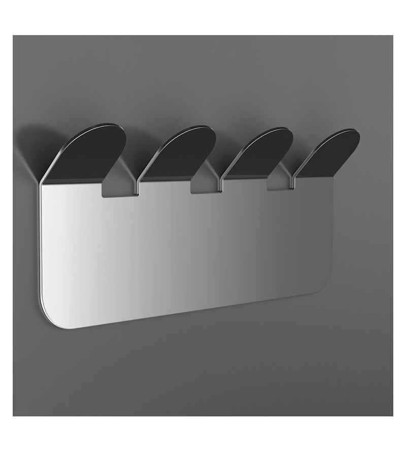 Clothes Hook with 4 Hooks in polished steel Capannoli Easy YE109/4