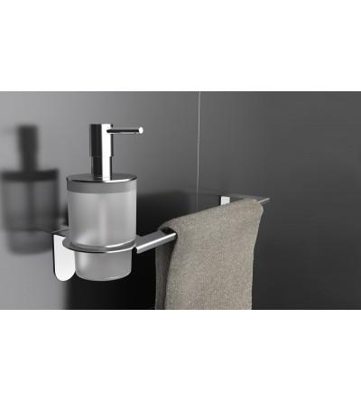 CAPANNOLI-Porte-Distributeur de savon liquide/Porte-serviettes Easy en acier brillant YE122