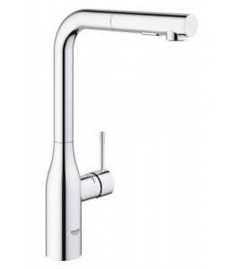 Grohe Essence single lever kitchen mixer with pull-out dual spray chrome 30270000