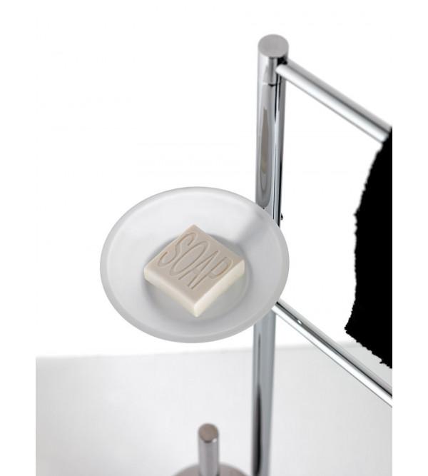 porte rouleau brosse de toilette sur pied hoop hp175vs rubinetteria shop. Black Bedroom Furniture Sets. Home Design Ideas