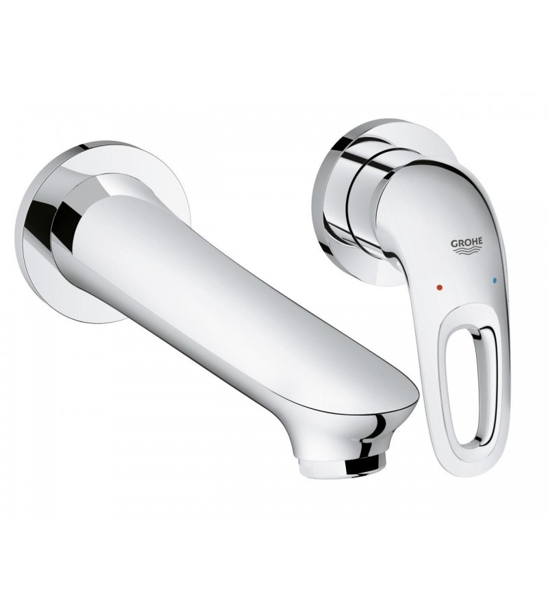 Grohe Eurostyle New Wall Mounted Two Hole Basin Mixer Projection 203 Mm Chrome 19571003 Ls3