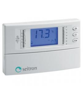 Thermostat programmable numérique à batterie Freetime Plus pour le chauffage SEITRON TCD01B