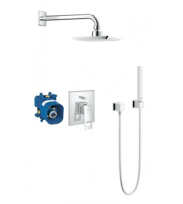 grohe komplett set eurocube f r dusche 23409000 rubinetteria shop. Black Bedroom Furniture Sets. Home Design Ideas