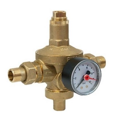 GIACOMINI - Diaphragm pressure reducer, PN25, complete with manometer and tail pieces R153MK