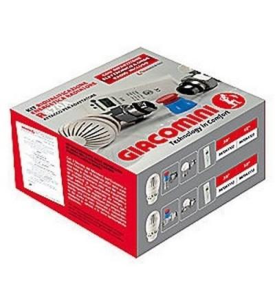 GIACOMINI-Kit riqualificazione energetica radiatore, con valvola e detentore attacco tubo ferro R470FX