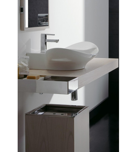 SCARABEO - LAY-ON OR WALL-MOUNTED WASHBASIN ZEFIRO 70R SHELF 8201