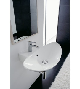 SCARABEO - LAY-ON OR WALL-MOUNTED WASHBASIN ZEFIRO 70R 8204