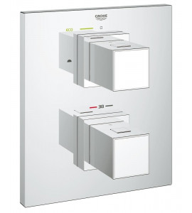 grohe 19958000 Grohtherm Cube Thermostat with integrated 2-way diverter for bath or shower with more than one outlet