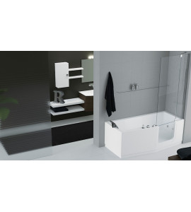 rectangular bath Hydromassage with disinfection door entry facilitated novellini iris