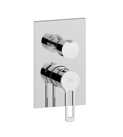 Miscelatore doccia incasso con deviatore rotativo Paffoni RINGO RIN019 WEST WS019